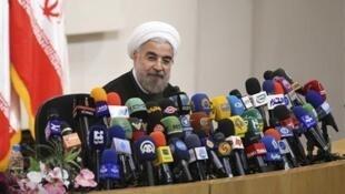 El nuevo presidente iraní Hassan Rohani.