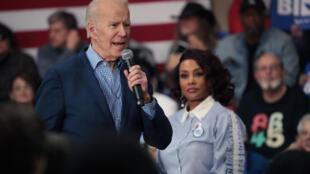 L'ancien vice-président Joe Biden lors d'un meeting électoral à la Coastal Carolina University, à Conway, en Caroline du Sud, le 27 février 2020.