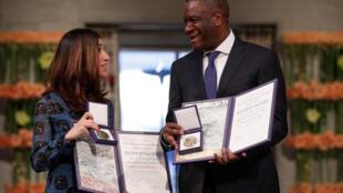 دُنی موکاوگه و نادیا مراد برندگان جایزۀ صلح نوبل