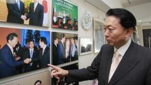 日本前首相鸠山由纪夫 2012年8月22日。