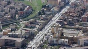 Vue aérienne de la ville de Sétif, en Algérie.