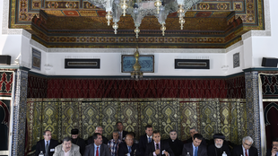 French Muslim leaders  , Grande Mosquée, Paris, 9 September 2014.