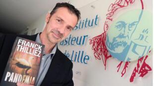 Portrait du romancier Franck Thilliez pour son livre Pandemia paru aux éditions Fleuve Noir