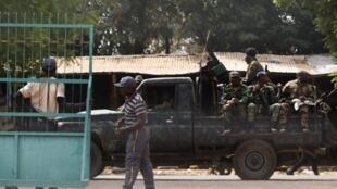 Soldats mutins à Bouaké le vendredi 13 janvier 2017.