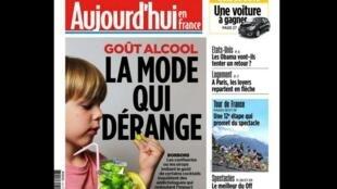 O jornal Aujourd'hui en France destaca uma preocupante moda na França: produtos alimentícios para crianças que imitam sabores de bebidas alcoólicas.