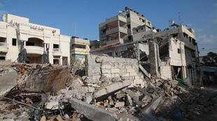 House in Tal Al Hawa (Gaza City) which had been struck by an F16