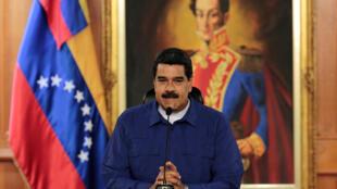 Le président vénézuélien Nicolas Maduro, le 9 février 2017 au palais de Miraflores, à Caracas.
