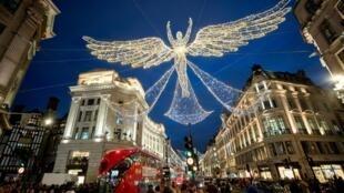 12月7日的倫敦街頭聖誕燈飾