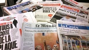 Diários franceses 08/12/2015