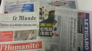 Primeiras páginas dos jornais franceses de 22 de fevereiro de 2017