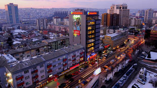 Pristina, the capital and largest city of Kosovo.