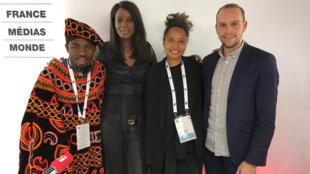Sandy Alibo, Diara Ndiaye, Aoudou Mouchili et Mathias Leopoldie.