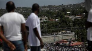 Manifestation du dimanche 13 octobre 2019 à Port-au-Prince, en Haïti.