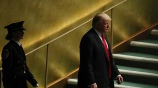 U.S. President Donald Trump arrives to deliver his address during the 73rd session of the United Nations General Assembly at U.N. headquarters in New York, U.S., September 25, 2018