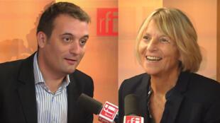 Florian Philippot et Marielle de Sarnez.