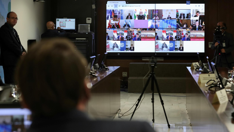 Presidente Jair Bolsonaro participou da reunião virtual com os líderes do G20