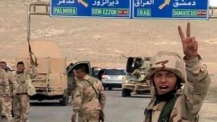 نیروهای ارتش سوریه که در جنگ پالمیرا شرکت داشتند