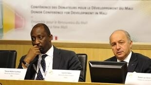 Tiéman Coulibaly, lors de la conférence internationale sur le Mali organisée à Bruxelles, le 15 mai 2013.