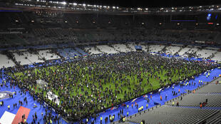 France vs Germany at the Stade de France on the night of the Paris attacks on 13 of November.