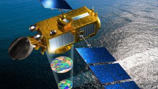 Illustration du satellite Jason 3.