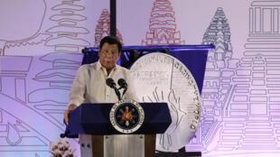 Tổng thống Philippines Duterte phát biểu tại Davao, ngày 15/01/2017.