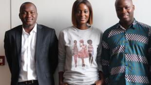Mamadou Samaké, secrétaire de l'URD; Diara Ndiaye; Omar Ba, analyste politique; Stéphane Tiki, politicien.