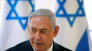 以色列总理内塔尼亚胡   2019年9月15日约旦河区