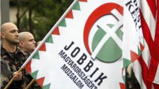 Венгерские скинхеды из ультра правого движения Jobbik (архив)
