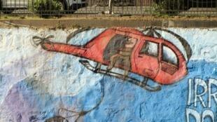 Street art in the Chilean city of Molina celebrates Pälma Salamanca's escape