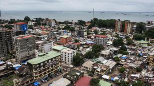 Vue générale de Conakry, la capitale de Guinée.