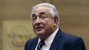 Dominique Strauss-Kahn last month