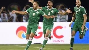 Belaïli (8), Bounedjah (9) et Benseibaïni (21) ont tous les trois marqué face à la Zambie.