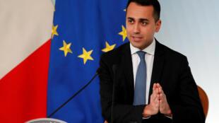 Phó thủ tướng Ý Luigi di Maio trong một cuộc họp báo tại Roma  ngày 8/3/2019.