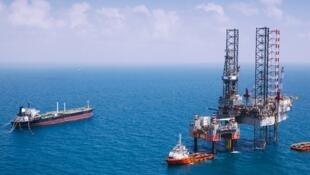 """میدان گازی """"رام"""" در دریای شمال که ۵۰ درصد سهام آن متعلق به شرکت ملی نفت ایران است."""