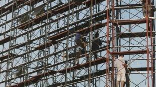 Một công trường xây dựng ở Hà Nội, 22/05/2011
