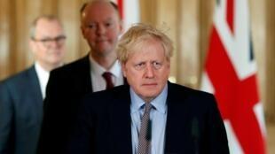 Le Premier ministre britannique Boris Johnson le 3 mars 2020 avant sa contamination au Covid-19.