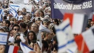 The pro-Israel demonstration on Thurdsay in Paris
