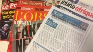 Semanários de língua francesa de 12/01/19, publicados em França