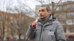 Лев Шлосберг на акции в поддержку Светланы Прокопьевой