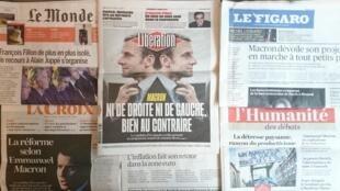 Diários franceses desta sexta-feira 3 de Março de 2017.