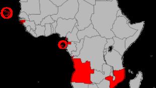 Países africanos de língua oficial portuguesa  (imagem de ilustração)