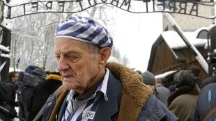 Igor Malicki, sobrevivente ucraniano do campo de concentração em Auschwitz.