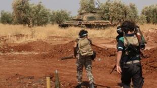 Des combattants du groupe Jaysh al islam au nord de la ville syrienne d'Alep en aout 2015. (Photo d'illustration)