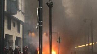 Incendies aux abords de la Gare de Lyon à Paris, le 28 février 2020.