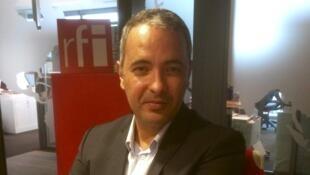 L'écrivain algérien Kamel Daoud en studio