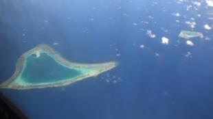 Quần đảo Trường Sa qua một bức ảnh chụp từ trên không ngày 21/04/2017.