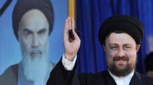 Le président Hassan Khomeini, petit-fils d'Ayatollah Ruhollah Khomeini.