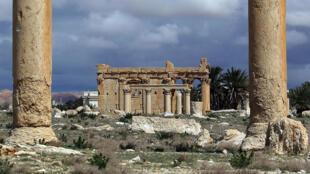 El templo de Baalshamin en Palmira antes de su destrucción.