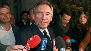 François Bayrou after the emergency executive meeting of Modem on Friday evening