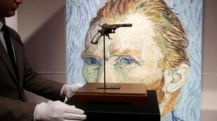 The pistol Vincent Van Gogh is believed to have used to shoot himself in 1890 in the French village of Auvers-sur-Oise